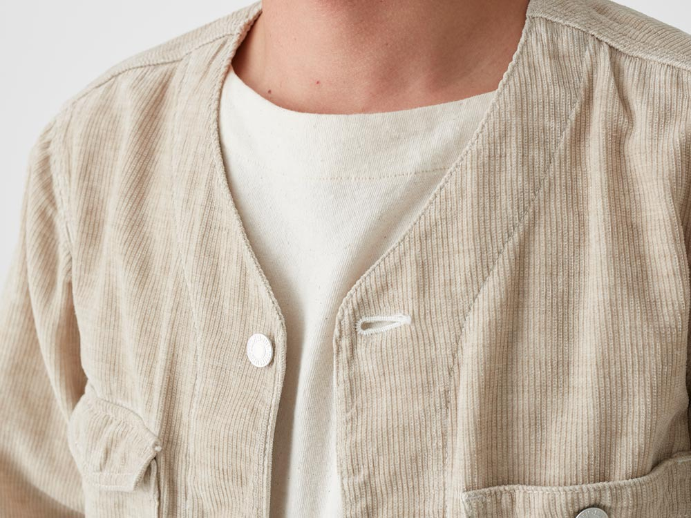 Linen Corduroy Jacket XXL Natural4