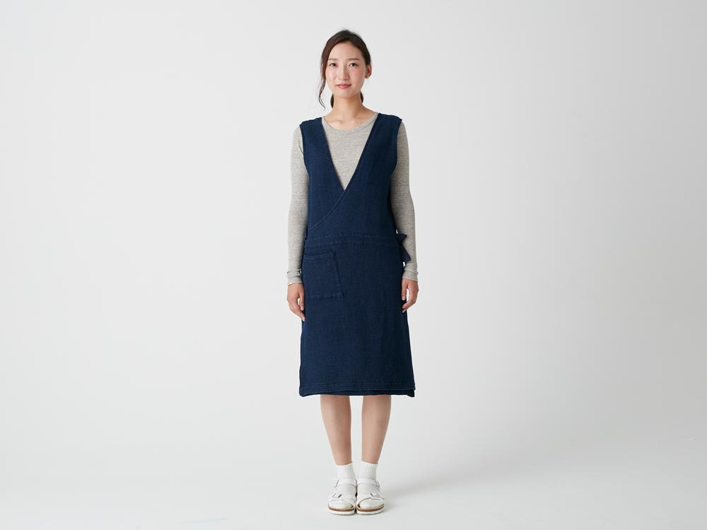 Dobby Denim Dress 3 Ecru1
