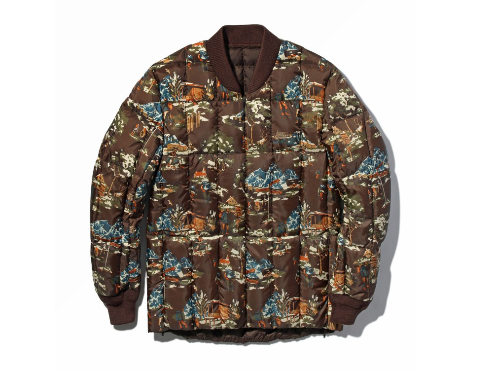 Printed Inner Down Jacket1Brown PT