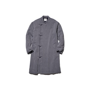 Cotton Herringbone Stripe China Coat