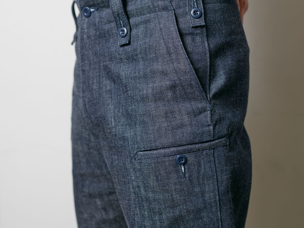 Denim Military Pants S Indigo6