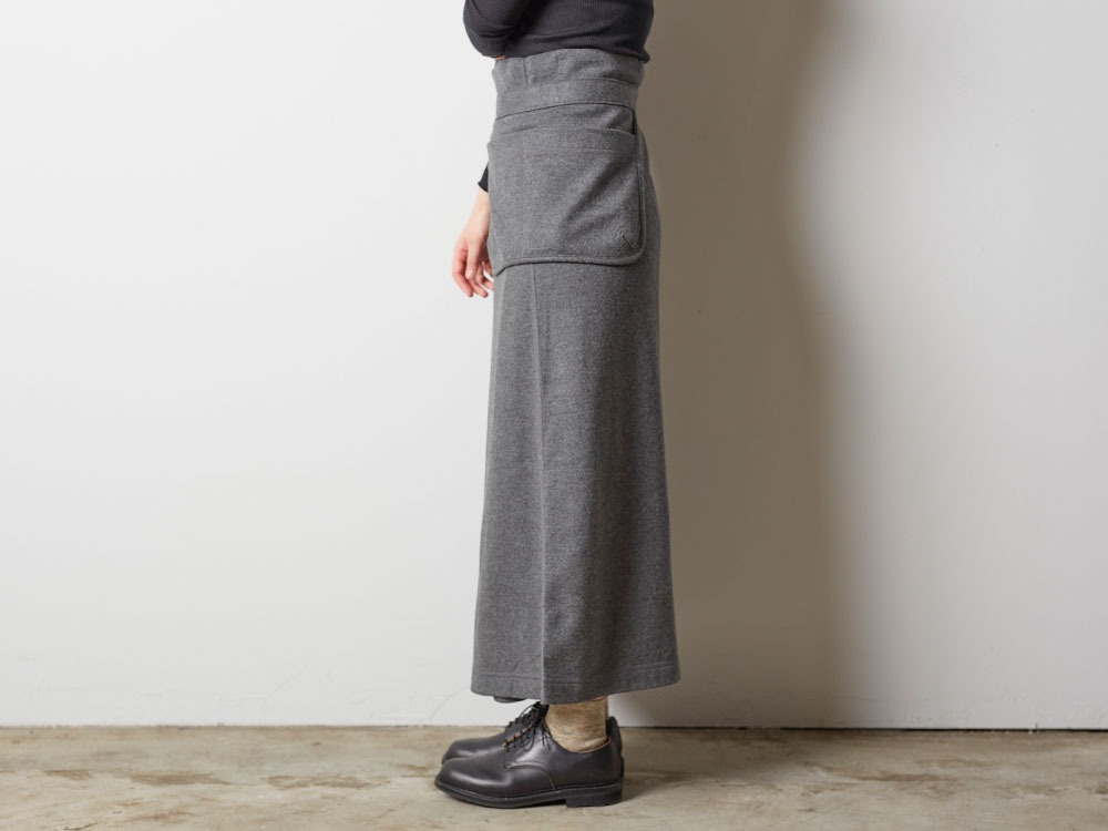 Wool Tight Knit Skirt 3 Grey3