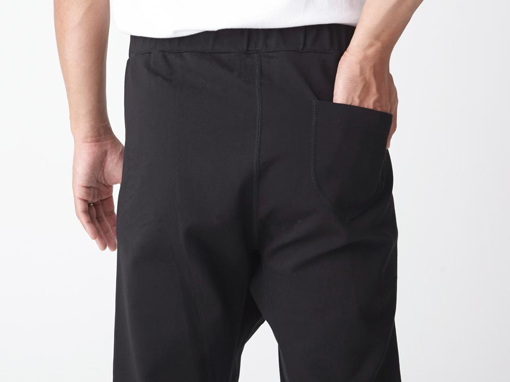 Cotton Ponte Thai Pants L Black5
