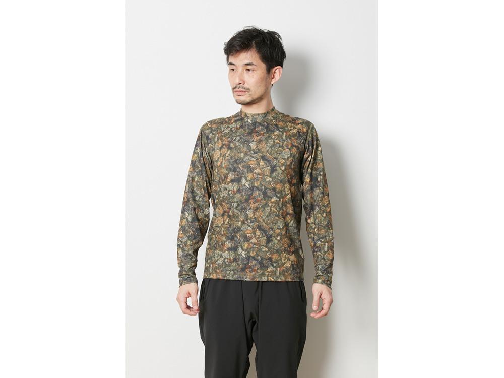 プリント インセクトシールド ロングスリーブ Tシャツ XL ブラウン