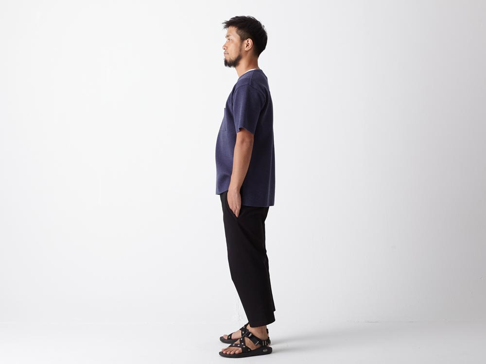 Cotton Ponte Thai Pants 1 Navy2
