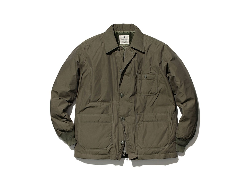 Waxed C/N Down Jacket L Olive