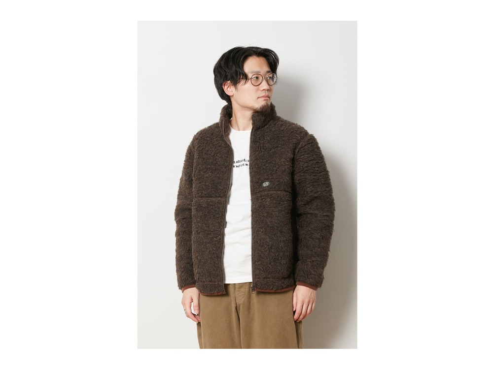 Wool Fleece Jacket XL Brown