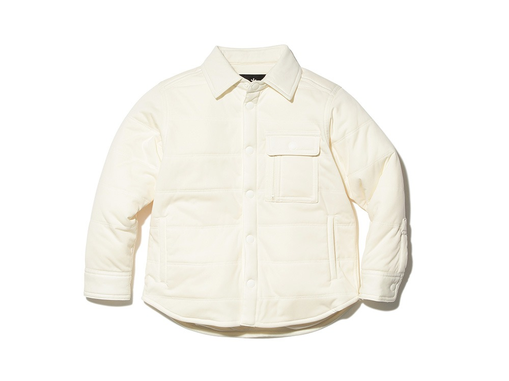 キッズフレキシブルインサレーション シャツ 4 ホワイト