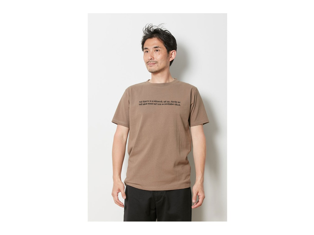 Typography Tee  1 Brown