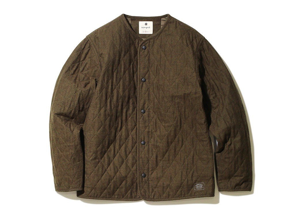 Quilted Flannel Cardigan M Khaki