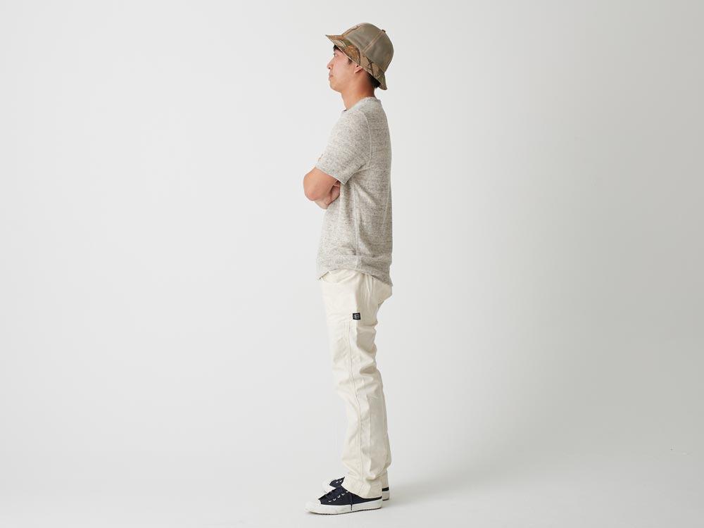 Linen Pile Tshirt L Grey2