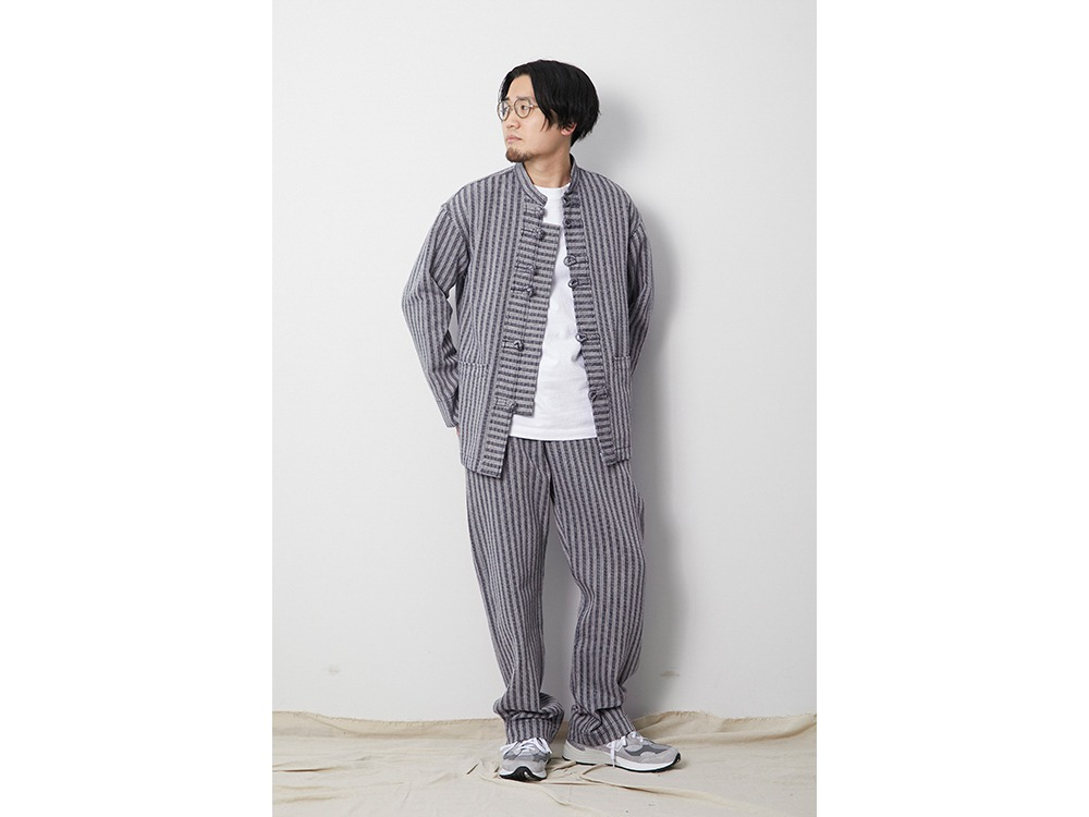 Cotton Herringbone Stripe CN JK 1 BG
