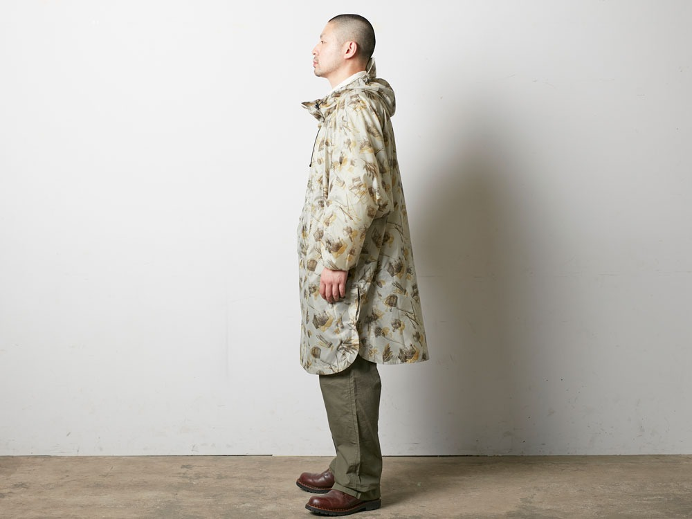 Printed Over Poncho 2 Navy2