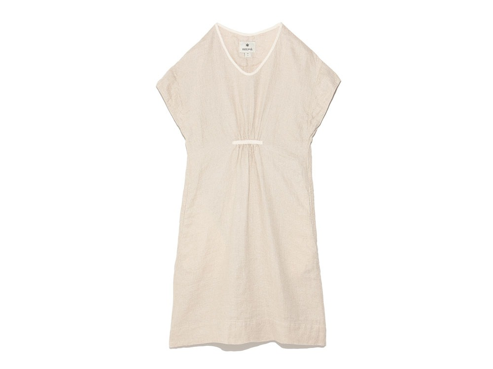 Linen Waffle Dress 3 Natural0