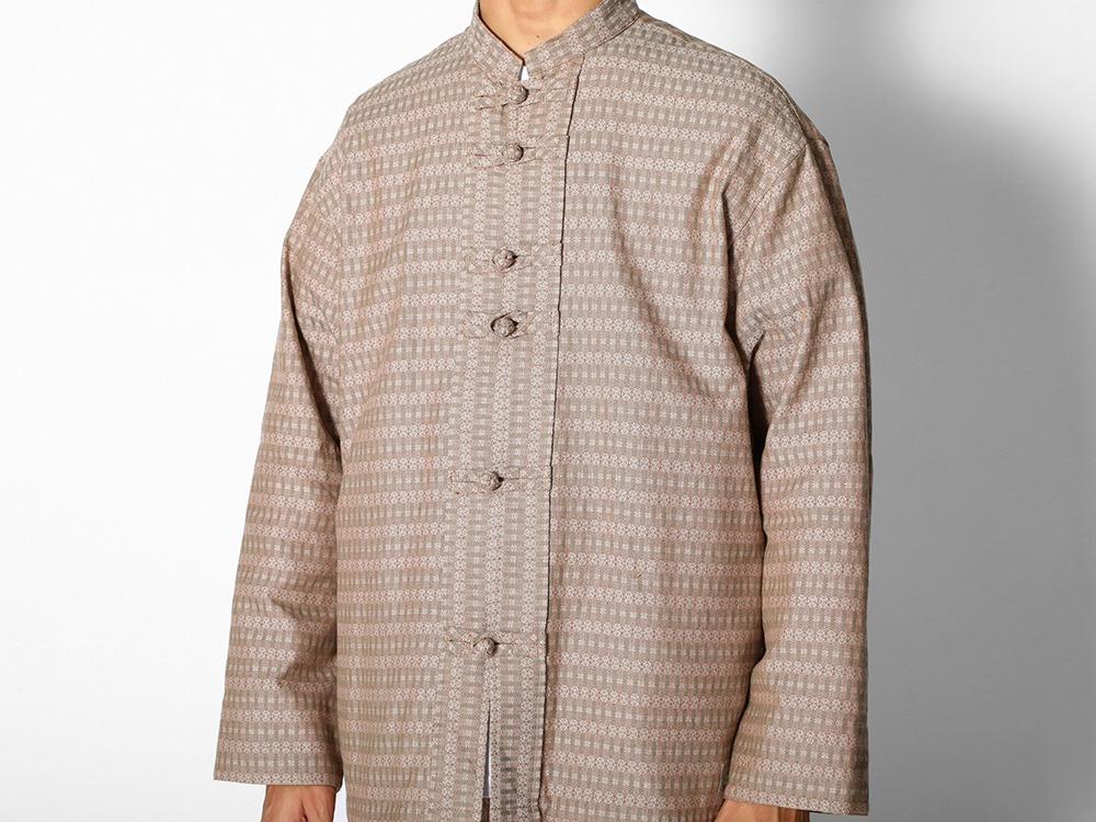 Cotton Dobby China Jacket M Black