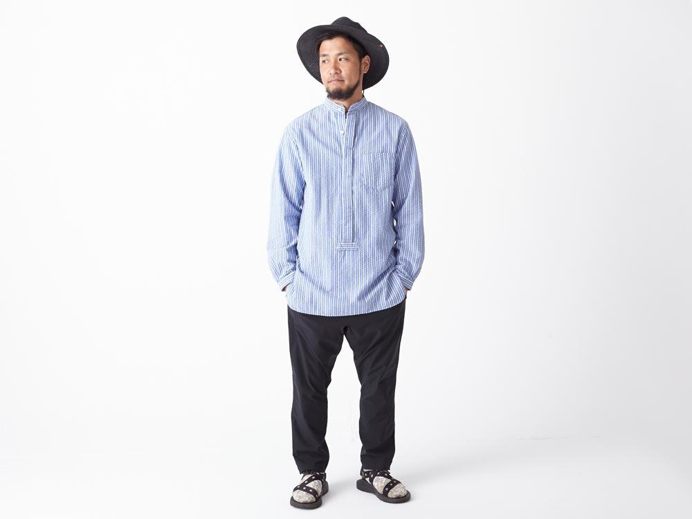 Striped Long Shirt XL Blue1