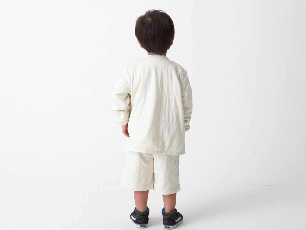 Kids Flexible Insulated Cardigan 3 White2