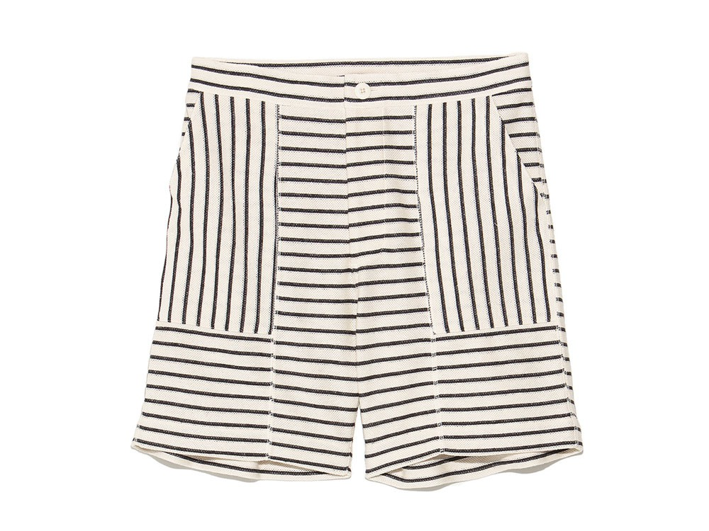 C/L Striped Shorts 1 Ecru x Navy0