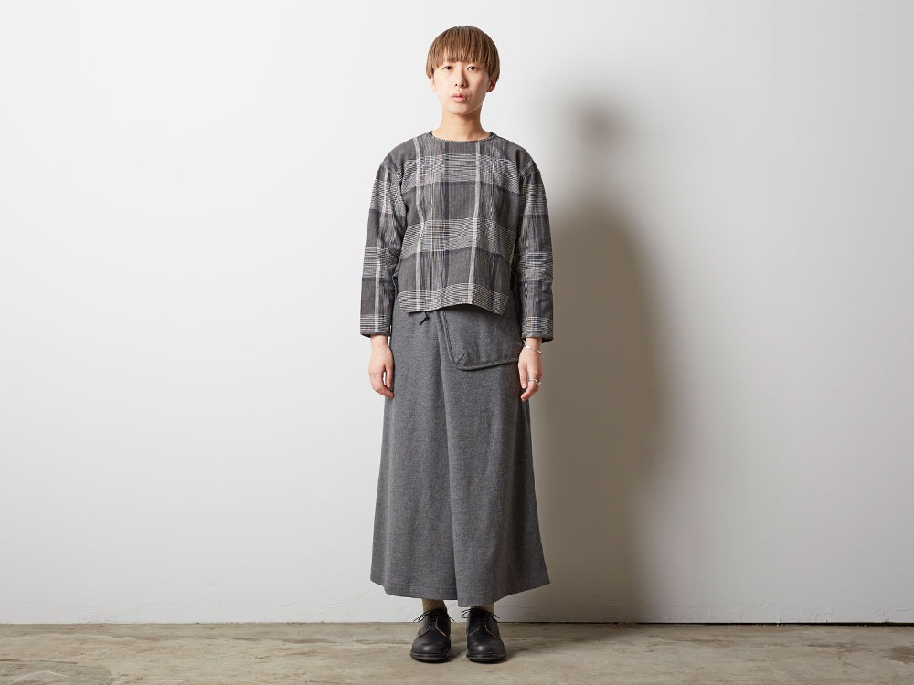 Wool Tight Knit Skirt 3 Grey1