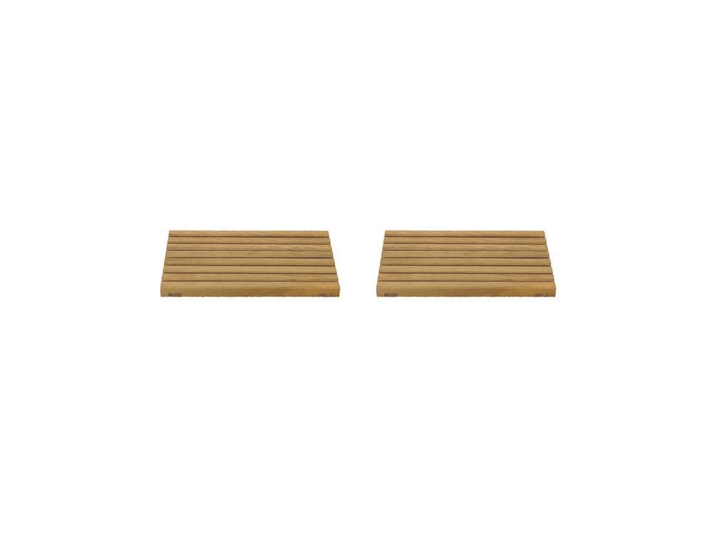 ガーデンユニットテーブル ウッドトップ 2PCS