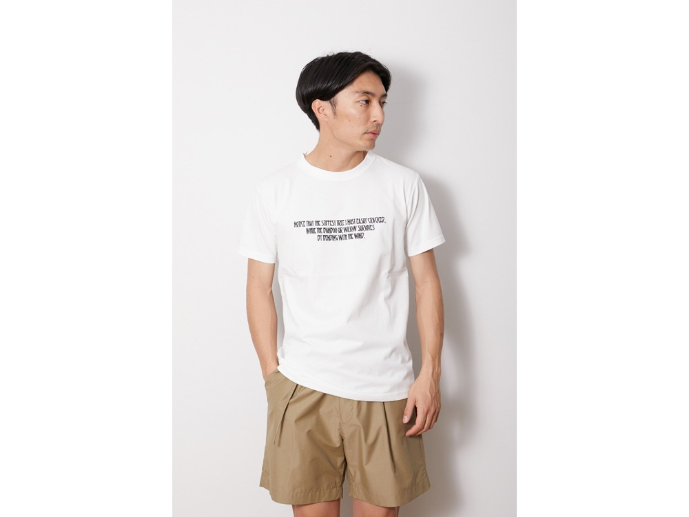Typographical Tee #6 M White
