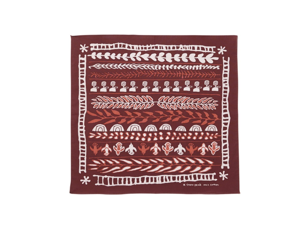 Cotton Nordic Bandana One Bordeaux