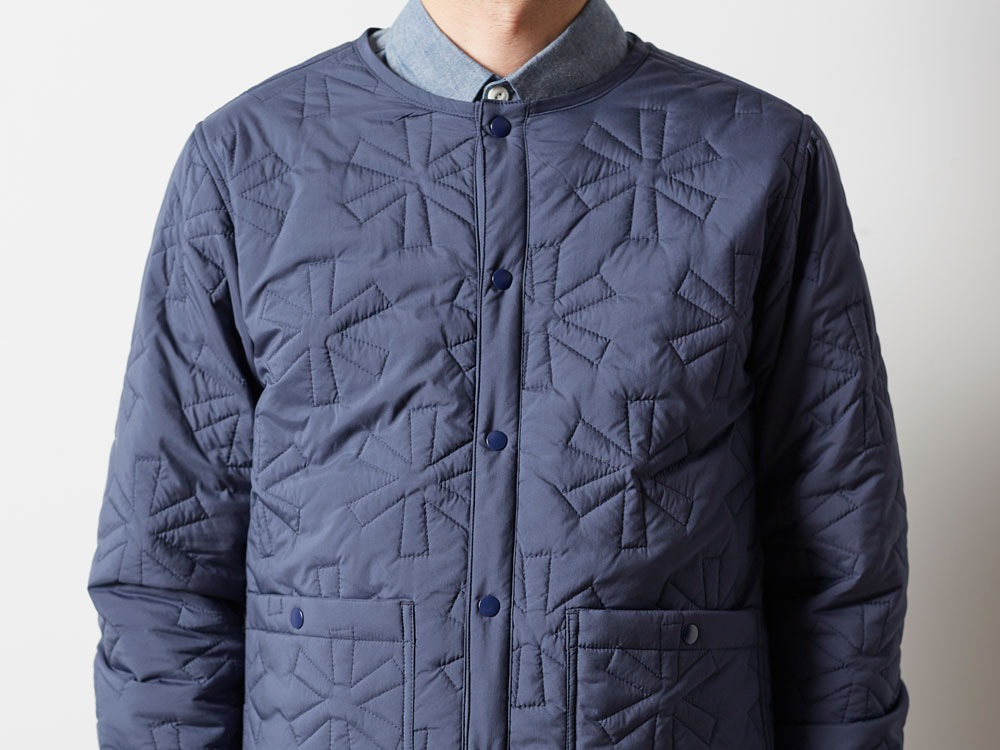 Quilting puff Jacket L Navy7