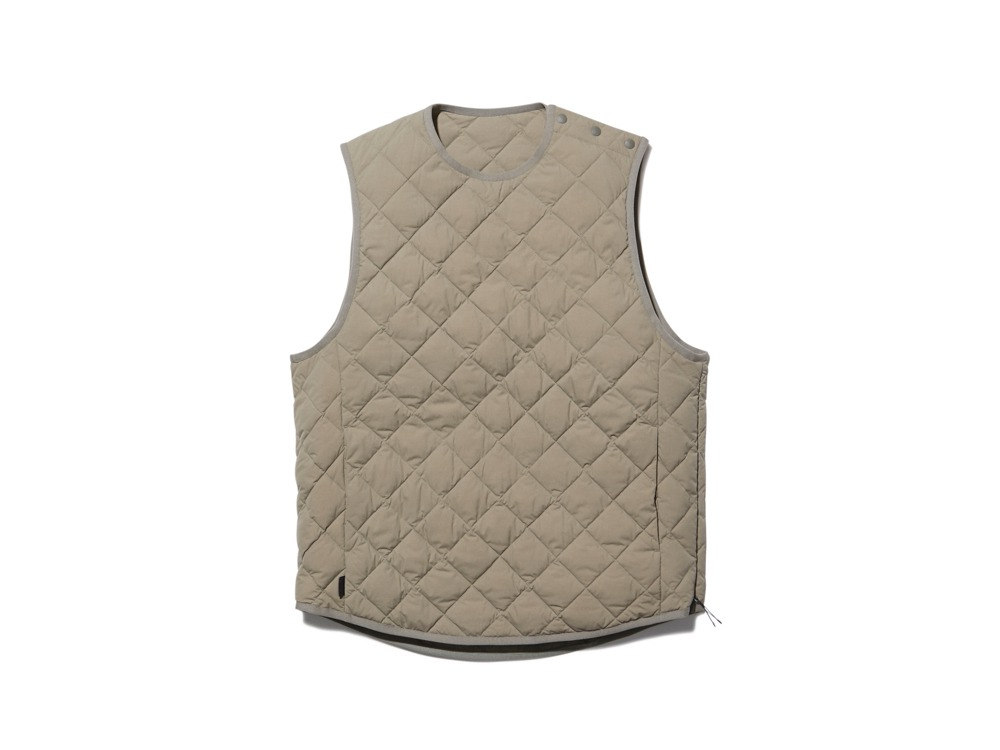 Recycled Ny Ripstop Down Vest S Beige