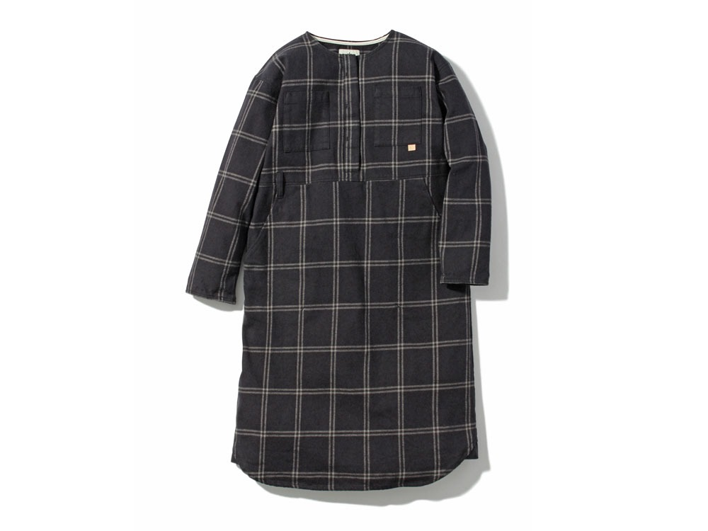 W's Check Heavy Flannel Dress1Black