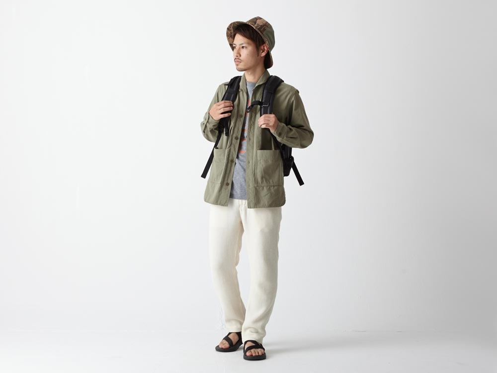 Herringbone Field Shirt M Olive1