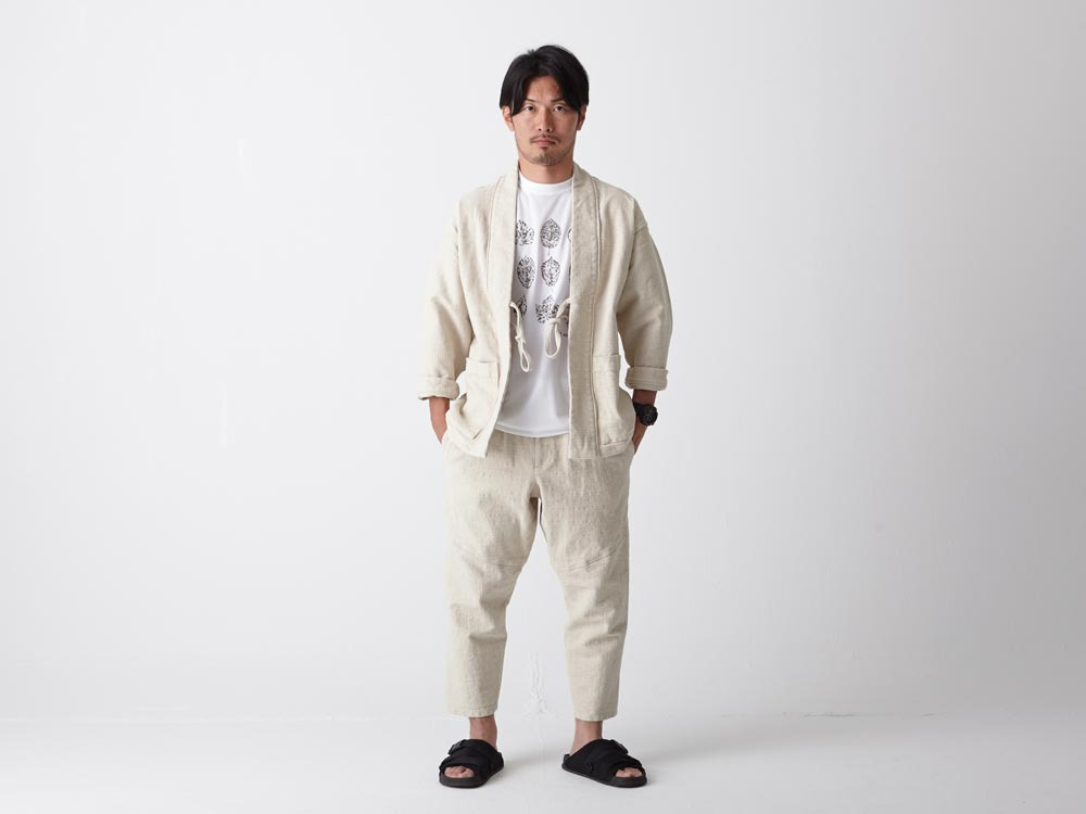 Linen HAORI Pants 1 Black1