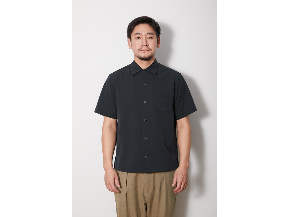 Quick Dry Aloha Shirt S Black