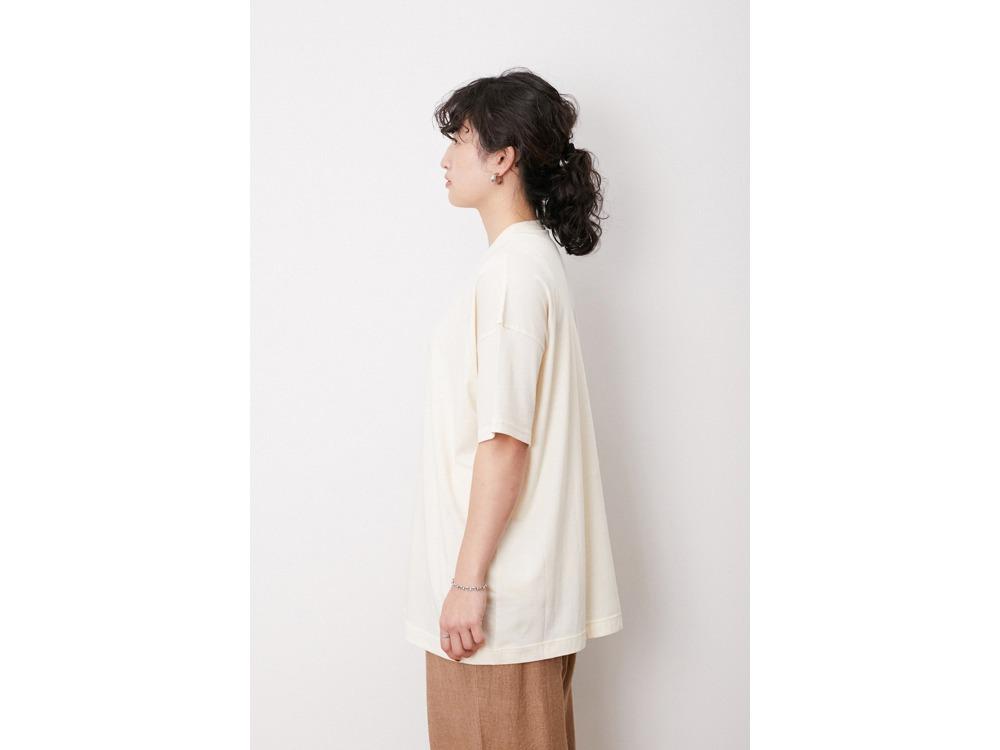 Printed T-shirt #1 1 Ecru×Black