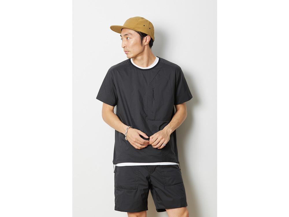 2レイヤー オクタ プルオーバーTシャツ 1 ブラック