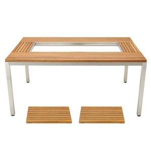 ガーデンユニットテーブル ウッドトップセット