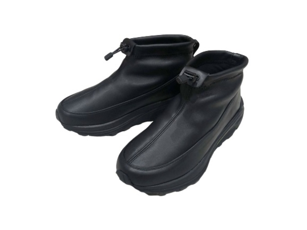 Leather Thermal Mock Shoes 24 Black
