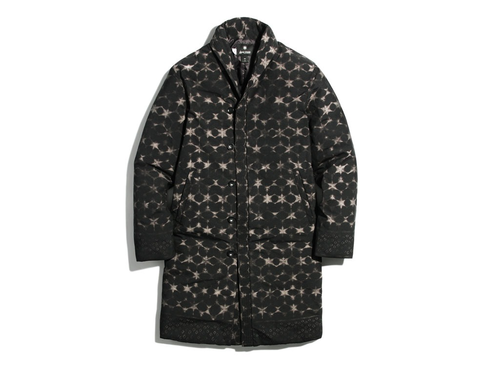 Indigo C/N Down L Coat Print L Black0