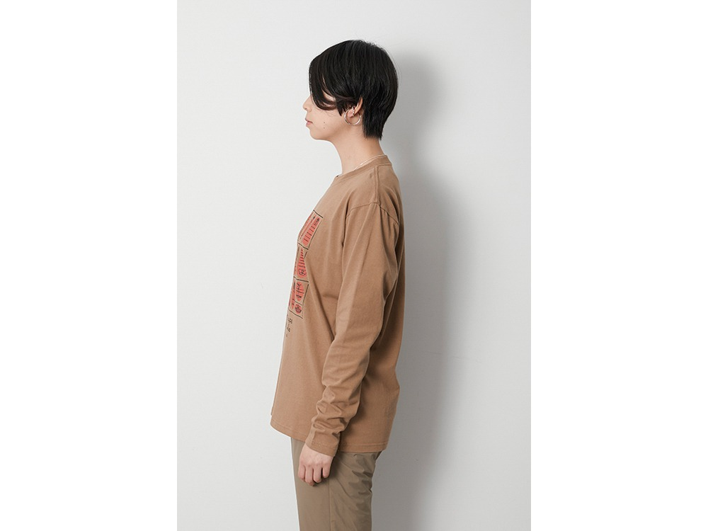 100 Sleep 100 Smile L/S Tee L Brown