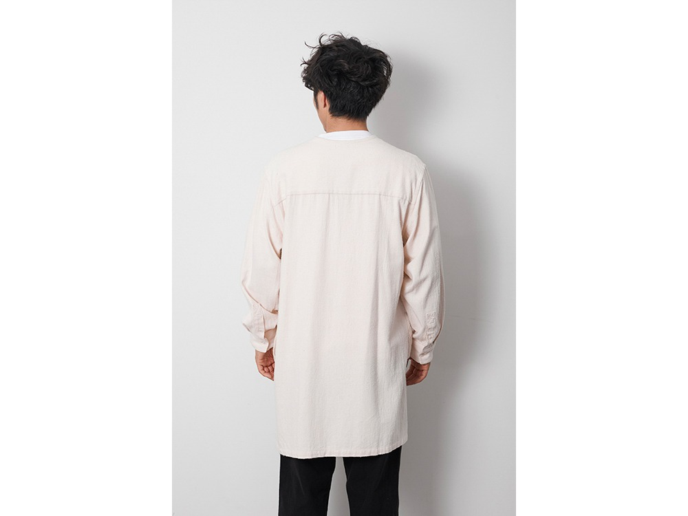 Cotton Silk Serge Long Shirt 1 Grey