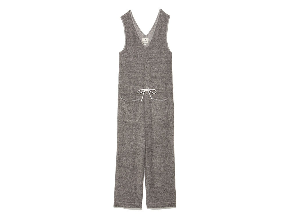 W's Linen Pile Overalls 2 Charcoal0