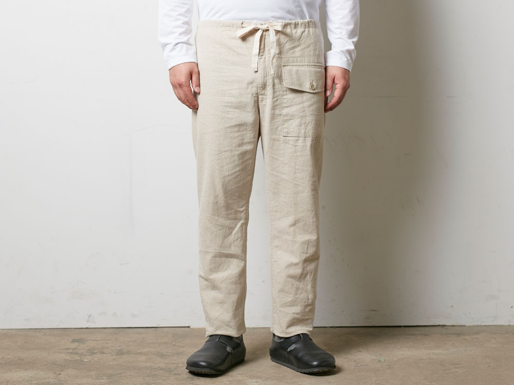 Safari Linen Pants M Beige2