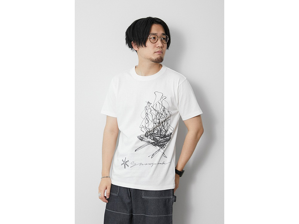 TAKIBI Graphic Tee L White