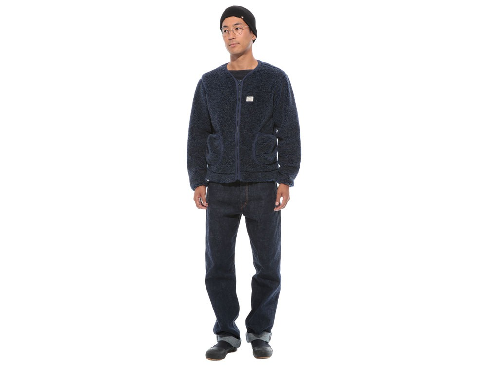 Soft Wool Fleece Jacket S Blue1