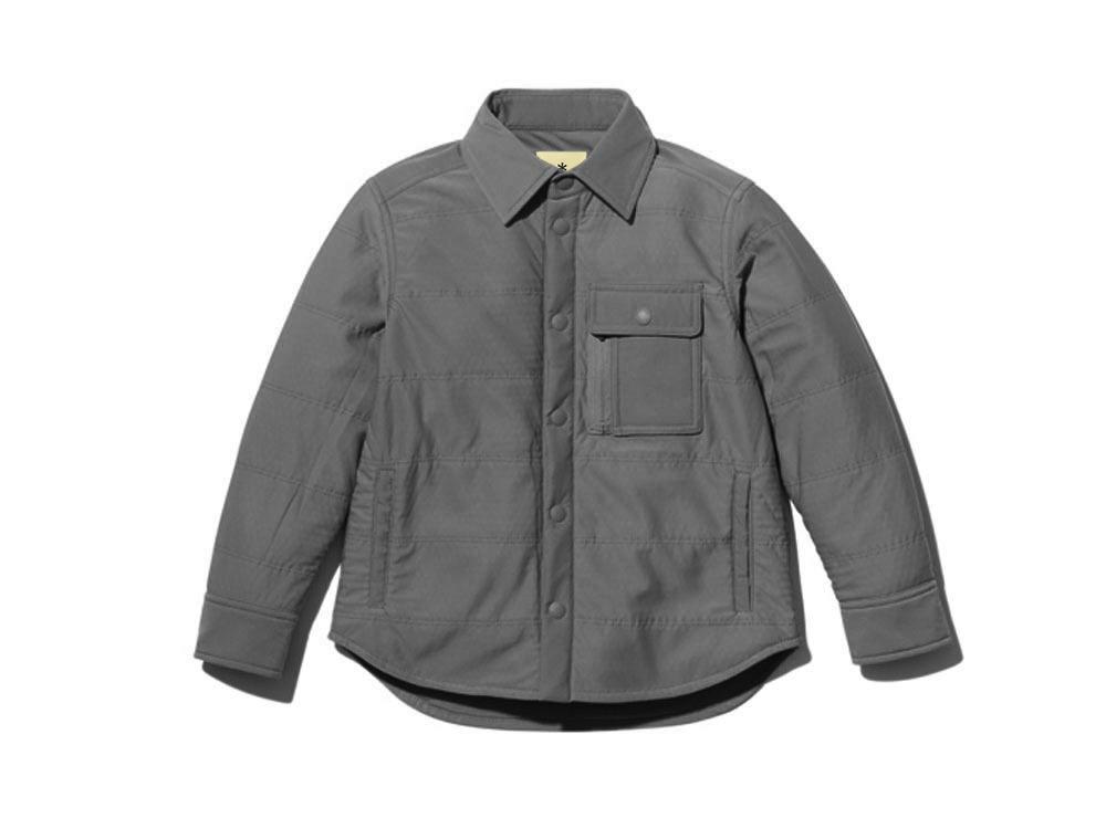 キッズ フレキシブルインサレーションシャツ 1 メランジェグレー