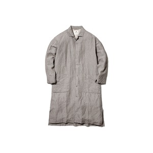 C/L Dobby Stripe Long Shirt M Beige