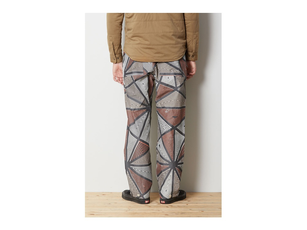 Printed eVent C/N Rain Pants L Red