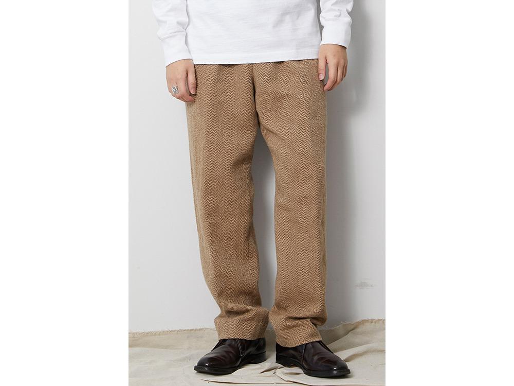 Wo/Li Herringbone Tweed Pants 1 Beige