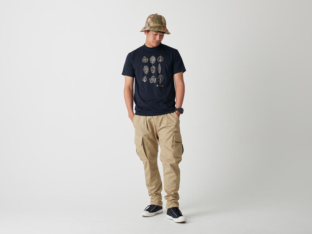 Printed Tshirt:Greenleaf M Navy2