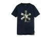 クイックドライティーシャツ (レインカモプリント)  XXL ネイビー