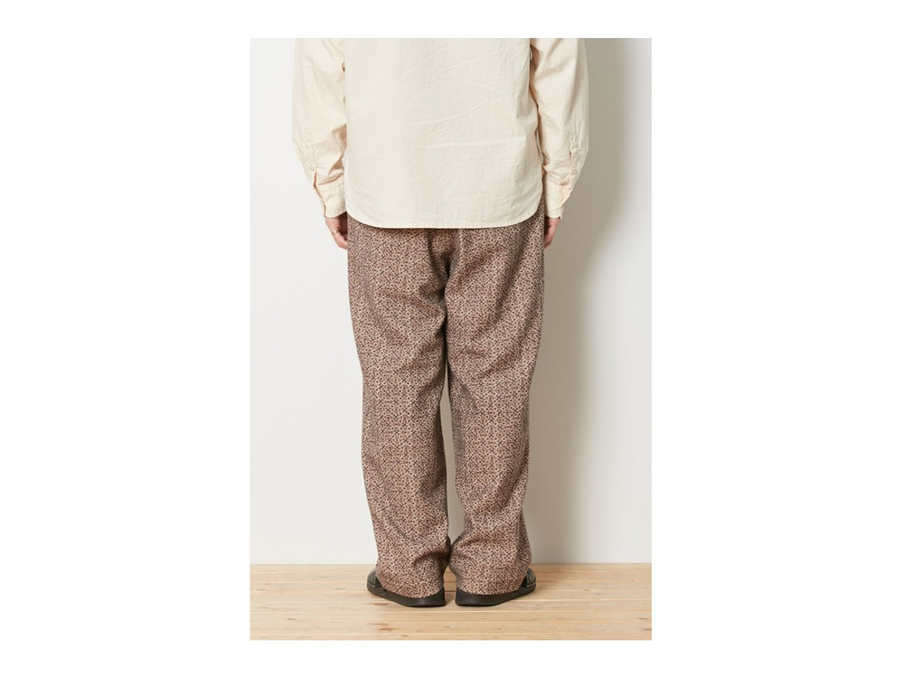 Printed Wo/Ny Pants XL Beige